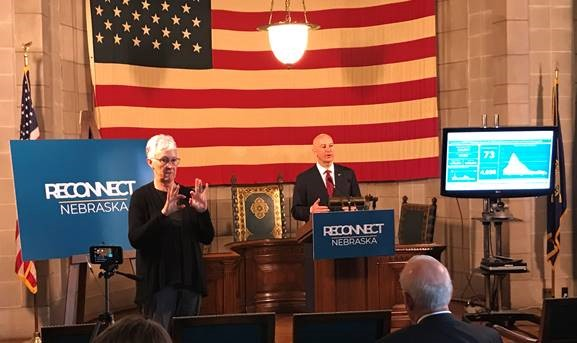 Governor Ricketts Visits Norfolk For 30×30 Town Hall