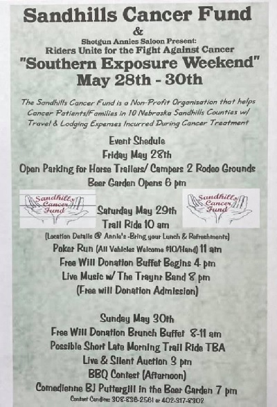 Southern Exposure Event May 28-30 to Benefit Sandhills Cancer Fund
