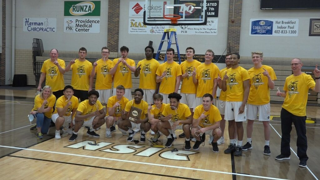 WSC Men's Basketball Recognized As NSIC South Division Regular Season Champions, Net Cutting Ceremony