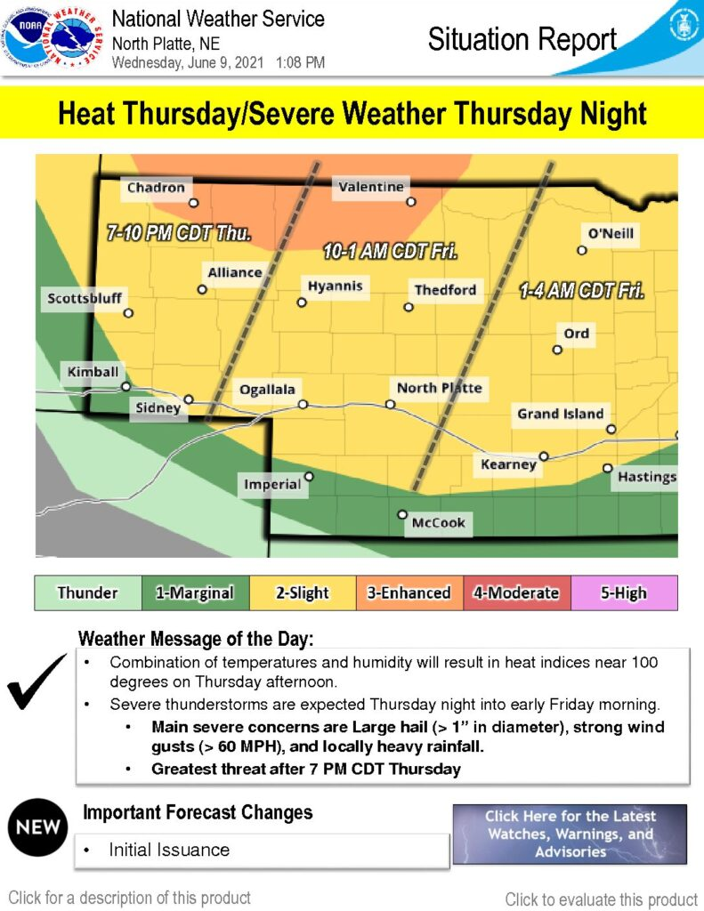 Heat and severe storms in forecast for Thursday