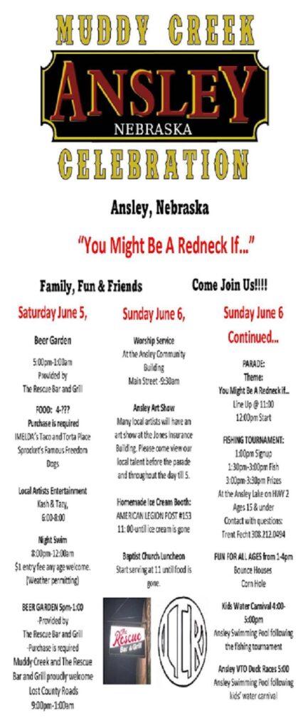Ansley Muddy Creek Celebration June 5 & 6