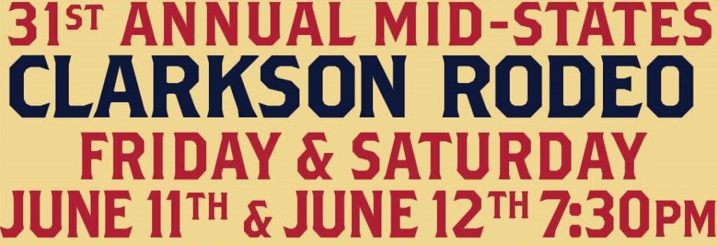 Clarkson Rodeo Scheduled For June 11 – 12