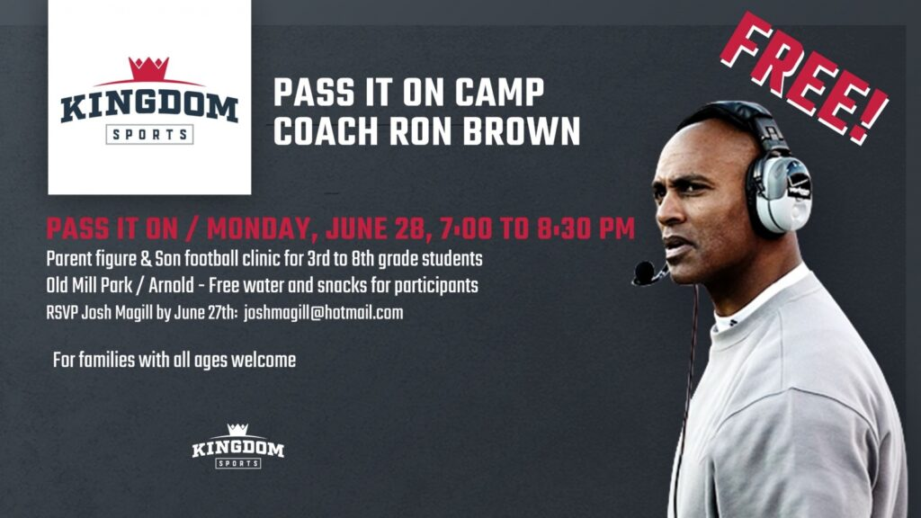 """""""Pass it on Camp"""" with Ron Brown Coming to Arnold"""