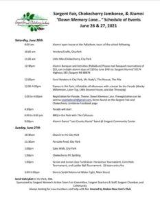 Head Down Memory Lane during the Sargent Fair, Chokecherry Jamboree, & Alumni Weekend