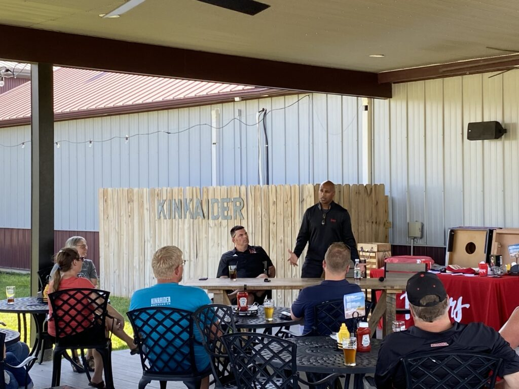 Nebraska Football Coaches Ryan Held and Ron Brown Visit Broken Bow as Part of the Big Red Blitz
