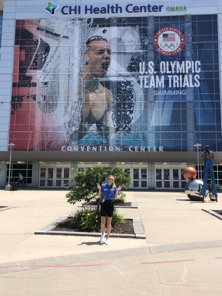 Broken Bow Student Callie White Helps at US Olympic Swim Trials