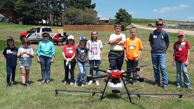 Students From Cozad, Gothenburg, And Others Get First-Hand Look Into Drone Usage During Agronomy Youth Field Day