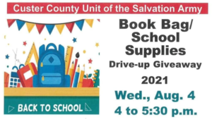 Salvation Army Book Bag/School Supplies Drive-Up Giveaway Wed., Aug 4