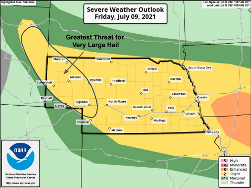 Potential Severe Weather To Move Into Area Friday Afternoon/Evening