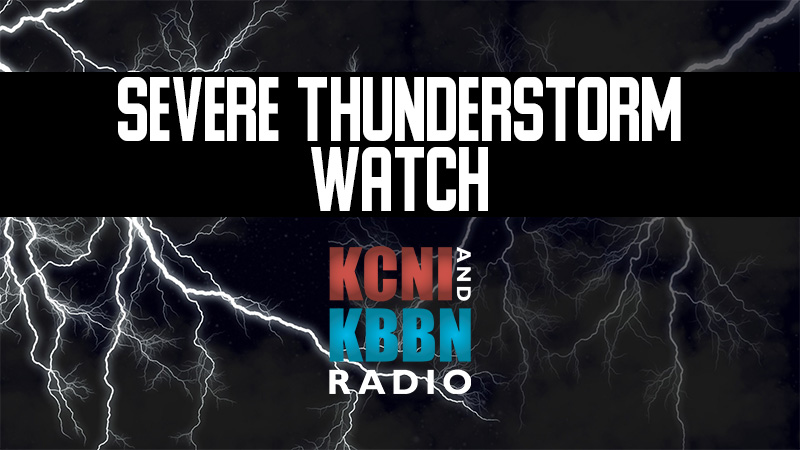 Severe thunderstorm watch in effect until 10 pm this evening