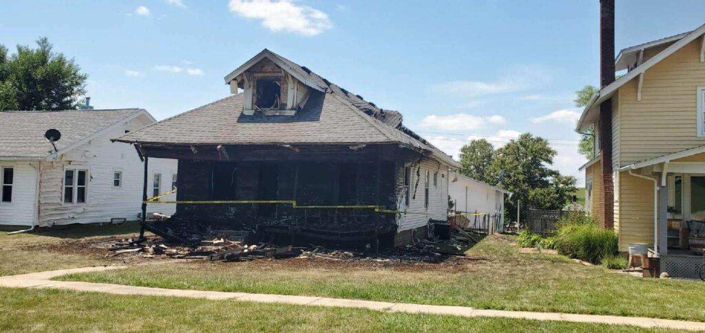 Fireworks Set Winside Home Ablaze; Neighbors Temporarily Evacuate
