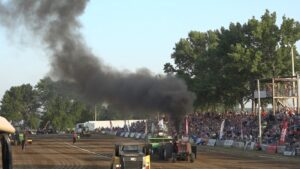 Dual Track Tractor Pull Action Takes Over Fairgrounds