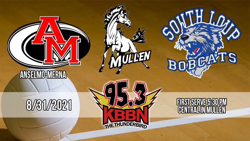 Local Sports Calendar 8/31 – Coverage of Mullen Volleyball Triangular on KBBN