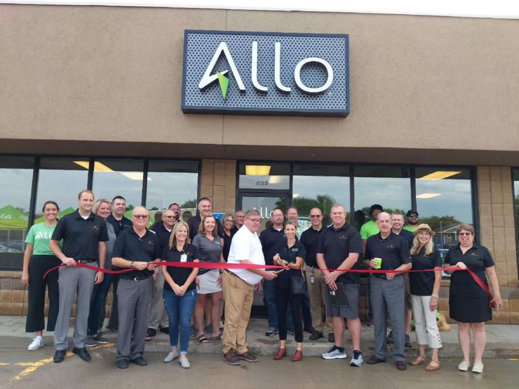 Allo Communications Welcomed Into Community With Chamber Coffee Ribbon Cutting, Free Cookout Hosted
