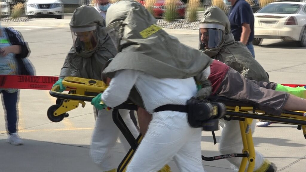 Hazmat Night Out Simulated Multi-Vehicle Accident, Decontamination Of Patients