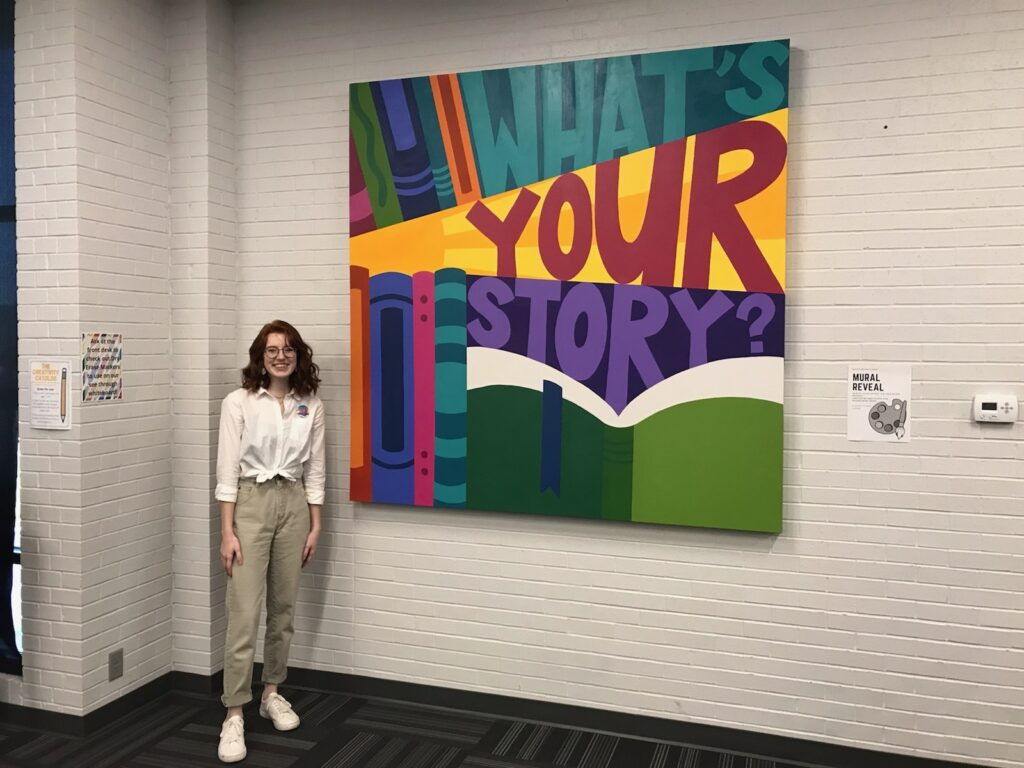 """BB Library Reveals Teen Mural: """"What's Your Story?"""" with Local Artist Abby Olson"""