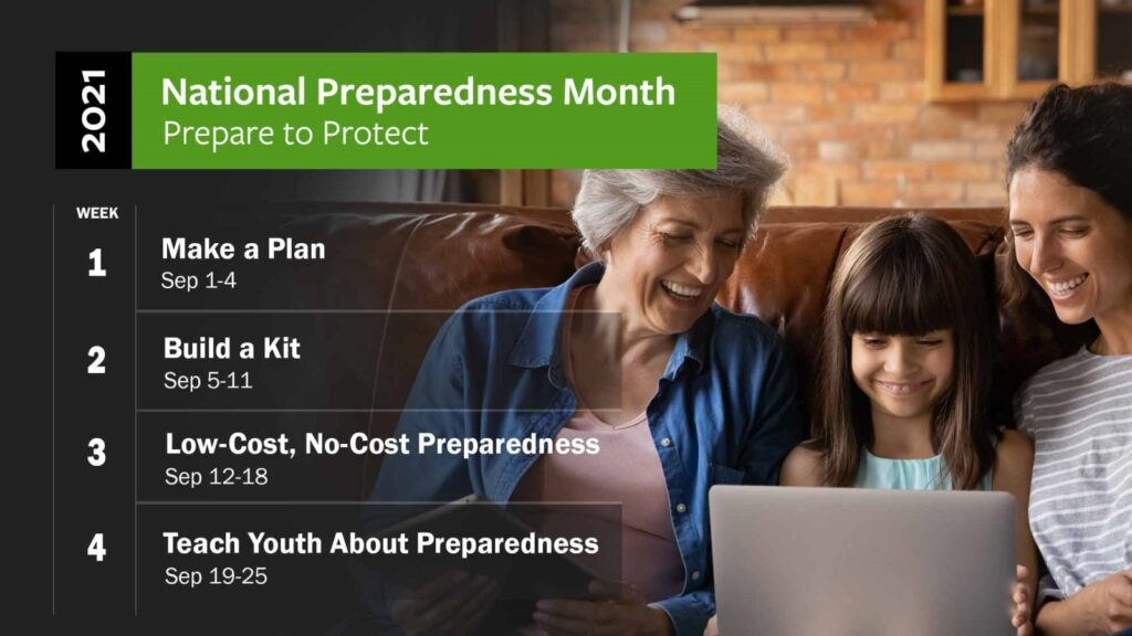 National Preparedness Month Provides Steps To Build, Follow Through With Plan