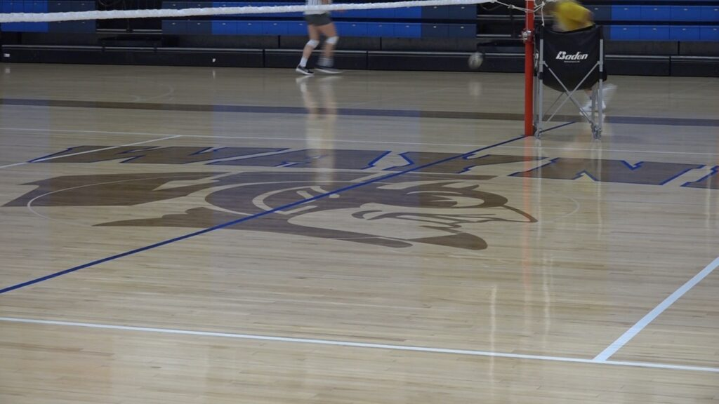 Wayne High Volleyball Working On Passing, Serving