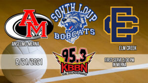 Local Sports Calendar 9/21 - Volleyball Triangular with Anselmo-Merna, South Loup, and Elm Creek on KBBN