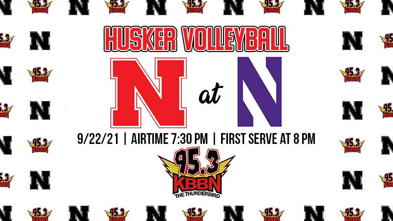 Husker vball at Northwestern
