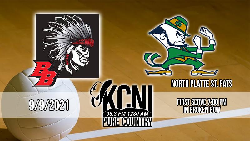 Local Sports Calendar 9/9 – Broken Bow Volleyball vs North Platte St. Pat's on KCNI
