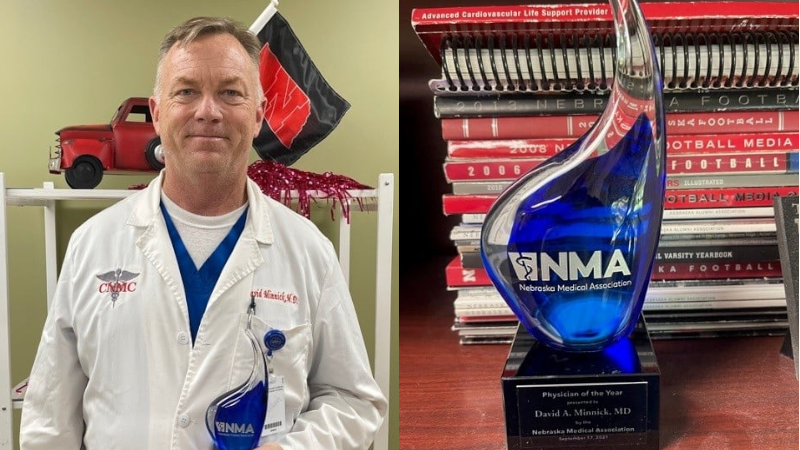 Dr. David Minnick Awarded Physician Of The Year By The Nebraska Medical Association