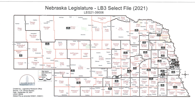 Custer, Dawson Counties To Change Legislative Districts If Map Advances
