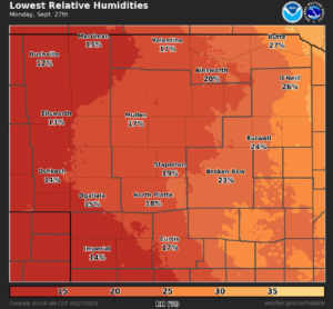 Critical Fire Weather Conditions Today (Monday); Rain Chances Increase Later This Week