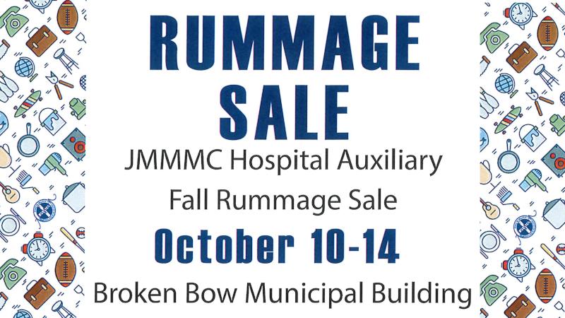 JMMMC Hospital Auxiliary Fall Rummage Sale October 10-14