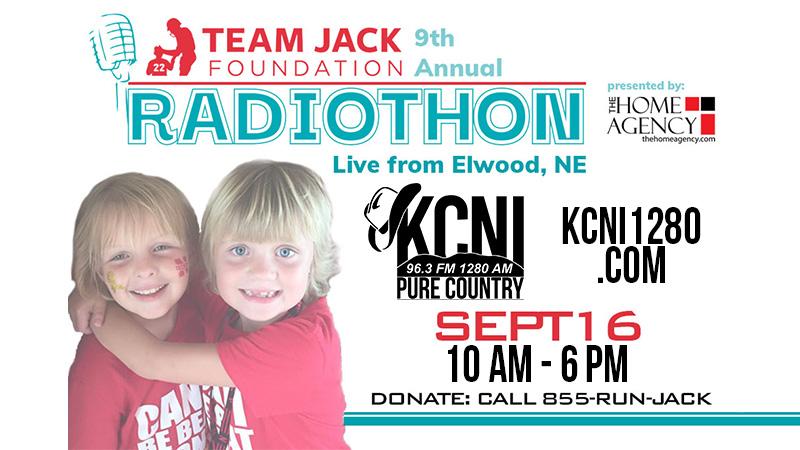 Team Jack Radiothon Thursday, September 16 On KCNI