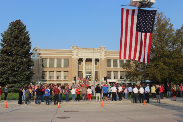 Morning of Remembrance; BBPS Holds Patriot Day Program At Courthouse
