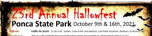 Ponca State Park 23rd Annual Hallowfest October 16 Schedule